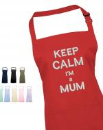 'Keep Calm I'm a Mum' Embroidered Apron