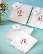 personalised handkerchief wedding