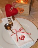 Valentine's dinner napkins