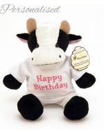 Personalised Teddy Bear with T-shirt, Cow