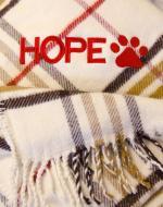 personalised dog blanket