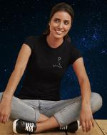 Constellation Embroidered Black T-shirt