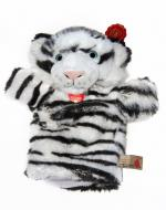 Personalised Hand Puppet, Snowy The White Tiger