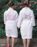 Personalised Flower Girl Waffle Dressing Gown 2-13 ys