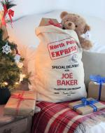 personalised santa sack large christmas stocking