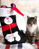 personalised cat christmas stockings